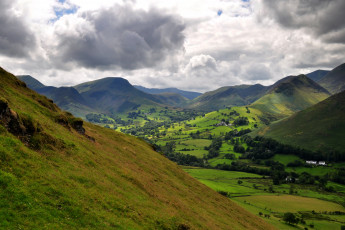 Картинка природа горы england cumbria the lake uk district national park