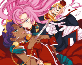 обоя аниме, revolutionary girl utena, меч, девушки