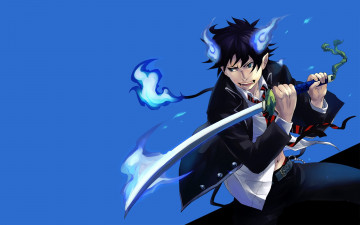 обоя аниме, ao no exorcist, рин