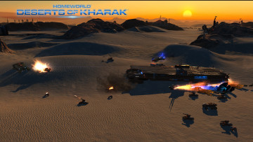 обоя homeworld,  deserts of kharak, видео игры, стратегия, action, deserts, of, kharak