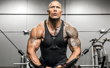 обоя мужчины, dwayne johnson , the rock, тату, атлет