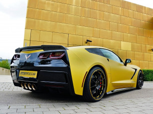 Картинка автомобили chevrolet corvette желтый c7 2014г coupe stingray geiger