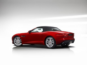 Картинка автомобили jaguar 2013г us-spec f-type s красный
