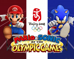 обоя mario, sonic, at, the, olympic, games, видео, игры