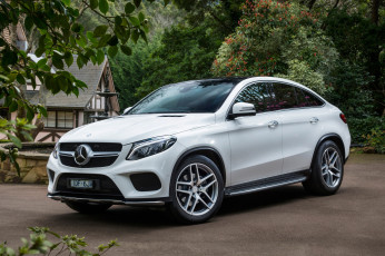 Картинка автомобили mercedes-benz gle 450 amg 4matic coupе au-spec c292 2015г светлый