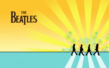 обоя the-beatles, музыка, the beatles, логотип