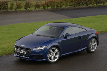 Картинка автомобили audi tt coupе s line 2-0 tfsi uk-spec 8s 2014г синий