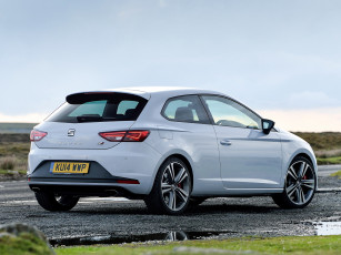 Картинка автомобили seat uk-spec cupra sc leon светлый 2014г