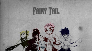 обоя аниме, fairy tail, lucy, happy, gray, erza, slayers, natsu, волшебник, dragneel, маг, чародей
