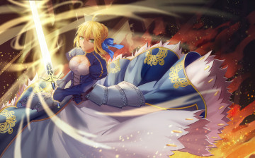 Картинка аниме fate stay+night saber