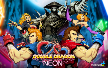 обоя видео игры, double dragon neon, billy, lee, marian, double, dragon, neon, jimmy, skullmageddon