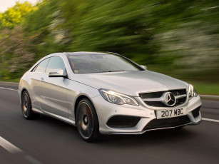 Картинка автомобили mercedes-benz package uk-spec sports coupe amg e 400 c207 2013г светлый