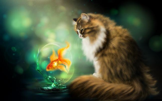 نتیجه تصویری برای گربه و ماهی کودکانه