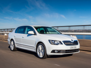 Картинка автомобили skoda skodа superb au-spec 2014г светлый