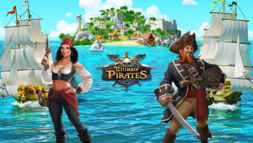 обоя ultimate pirates, видео игры, ---другое, ultimate, pirates