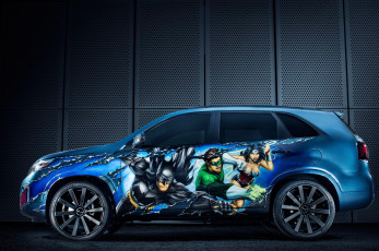 Картинка 2014 kia sorento justice league автомобили