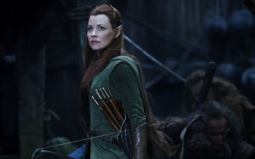 обоя кино фильмы, the hobbit,  the battle of the five armies, tauriel, evangeline, lilly, 2014, film