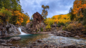 обоя crystal mill, colorado, crystal river, usa, разное, мельницы, crystal, mill, river
