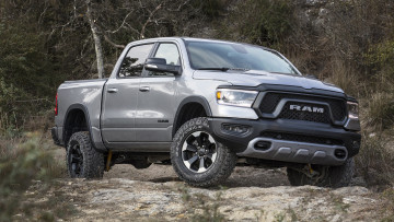 обоя dodge ram 1500 rebel 2019, автомобили, ram, dodge, 2019, 1500, серебряный, металлик, rebel