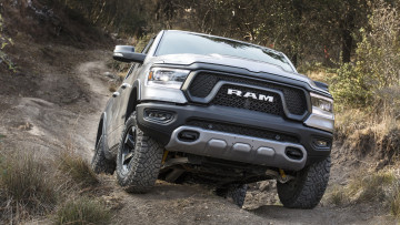 обоя dodge ram 1500 rebel 2019, автомобили, ram, металлик, серебряный, 2019, rebel, 1500, dodge