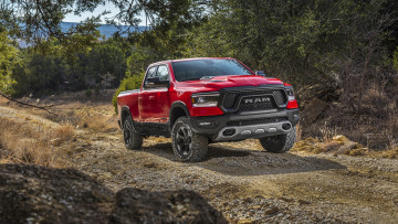 обоя dodge ram 1500 rebel 2019, автомобили, ram, 1500, rebel, dodge, 2019, красный