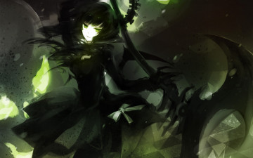 Картинка аниме black rock shooter демон девушка коса
