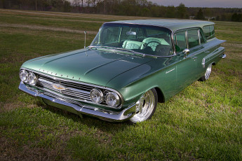 Картинка 1960-chevrolet-brookwood-wagon автомобили chevrolet