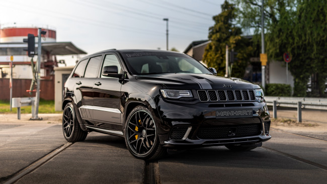 Обои картинки фото 2019 jeep manhart gc 800, автомобили, jeep, черный, manhart, gc, 800, 2019, тюнинг