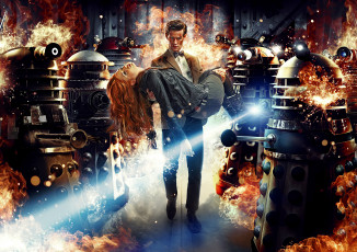 обоя doctor who, кино фильмы, doctor, who, daleks, matt, smith, доктор, кто