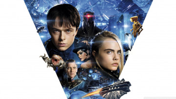 обоя кино фильмы, valerian and the city of a thousand planets, cara, delevingne