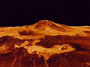 обоя venus, craters, космос, венера