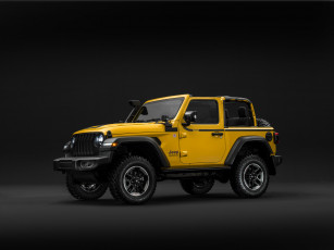 обоя jeep wrangler rubicon 1941 by mopar , jl, 2019, автомобили, jeep, джип, желтый, 1941, wrangler, mopar