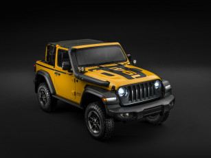 обоя jeep wrangler rubicon 1941 by mopar , jl, 2019, автомобили, jeep, желтый, джип, 1941, wrangler, mopar