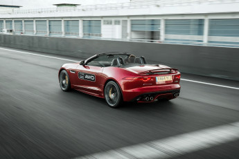 Картинка автомобили jaguar красный 2015г uk-spec r awd f-type