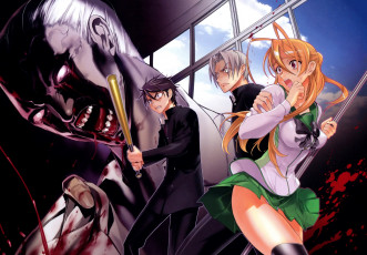 Картинка аниме highschool+of+the+dead highschool of the dead