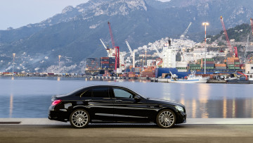 обоя mercedes-benz amg c43 4matic 2019, автомобили, mercedes-benz, c43, amg, чёрный, 2019, 4matic