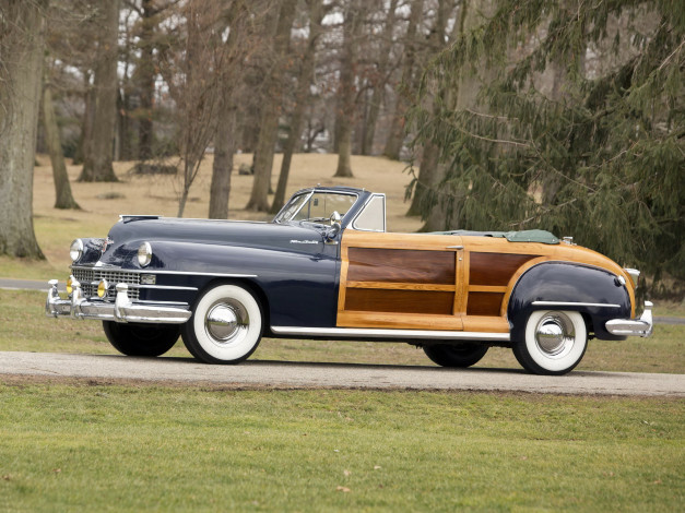 Обои картинки фото chrysler town & country convertible 1947, автомобили, chrysler, country, convertible, 1947, town