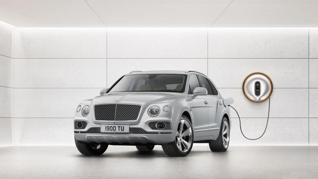 Обои картинки фото bentley bentayga plug in hybrid 2019, автомобили, bentley, 2019, bentayga, plug, in, hybrid