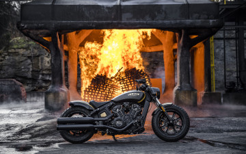 Картинка indian+scout+bobber+ 2018 +jack+daniels+limited+edition мотоциклы indian байк jack daniels limited edition мотоцикл scout bobber 4k тюнинг