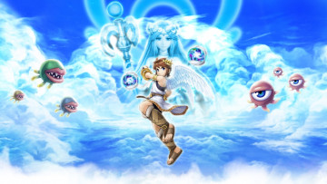обоя kid, icarus, uprising, видео, игры, крылья