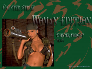 обоя games, girls, видео, игры, counter, strike, woman, edition