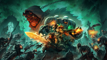 обоя battle chasers,  nightwar, видео игры, ролевая, action, nightwar, battle, chasers