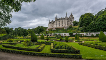 обоя dunrobin castle and park scotland, города, замки англии, простор