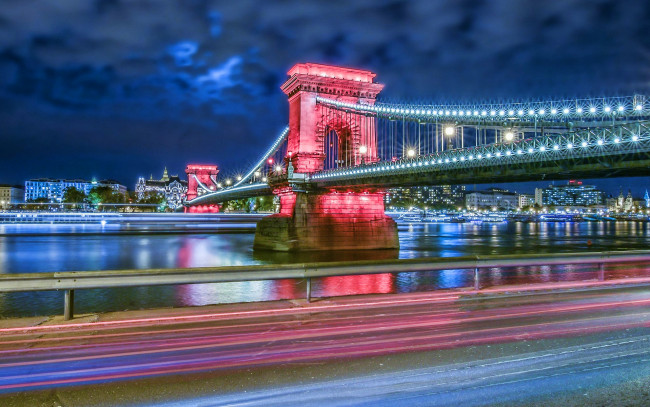 Обои картинки фото szechenyi chain bridge, города, будапешт , венгрия, szechenyi, chain, bridge