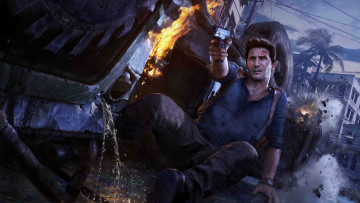 обоя видео игры, uncharted 4,  a thief`s end, шутер, action, a, thief`s, end, uncharted, 4