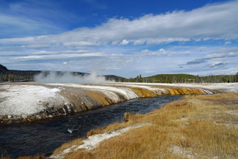 Картинка yellowstone national park природа водопады водопад