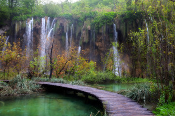 Картинка plitvice lakes national park хорватия природа водопады водопад