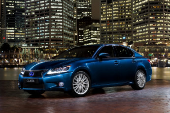 Картинка 2012 lexus gs 450h sports luxury автомобили город ночь