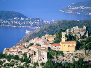 обоя eze, and, cap, ferrat, france, города, пейзажи