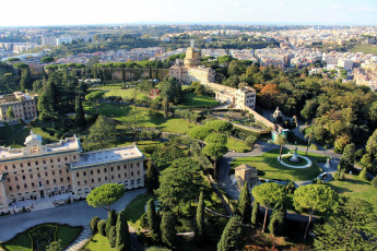 обоя the gardens of vatican city, города, рим,  ватикан , италия, the, gardens, of, vatican, city